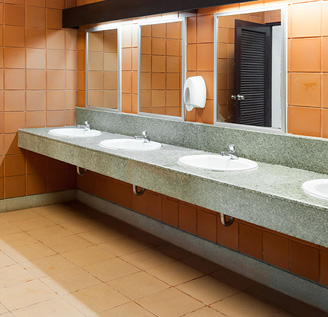 Metro Detroit Bathroom Cleaning Services - RNA Janitorial - sinks